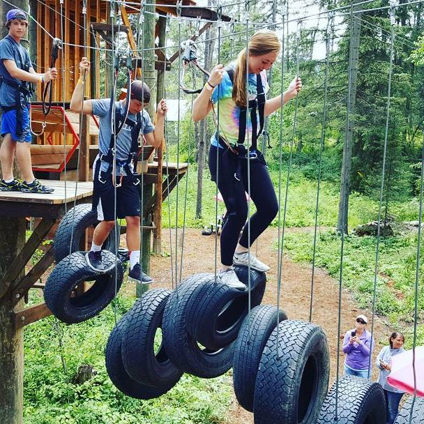 glacier highline high ropes course treetop adventure